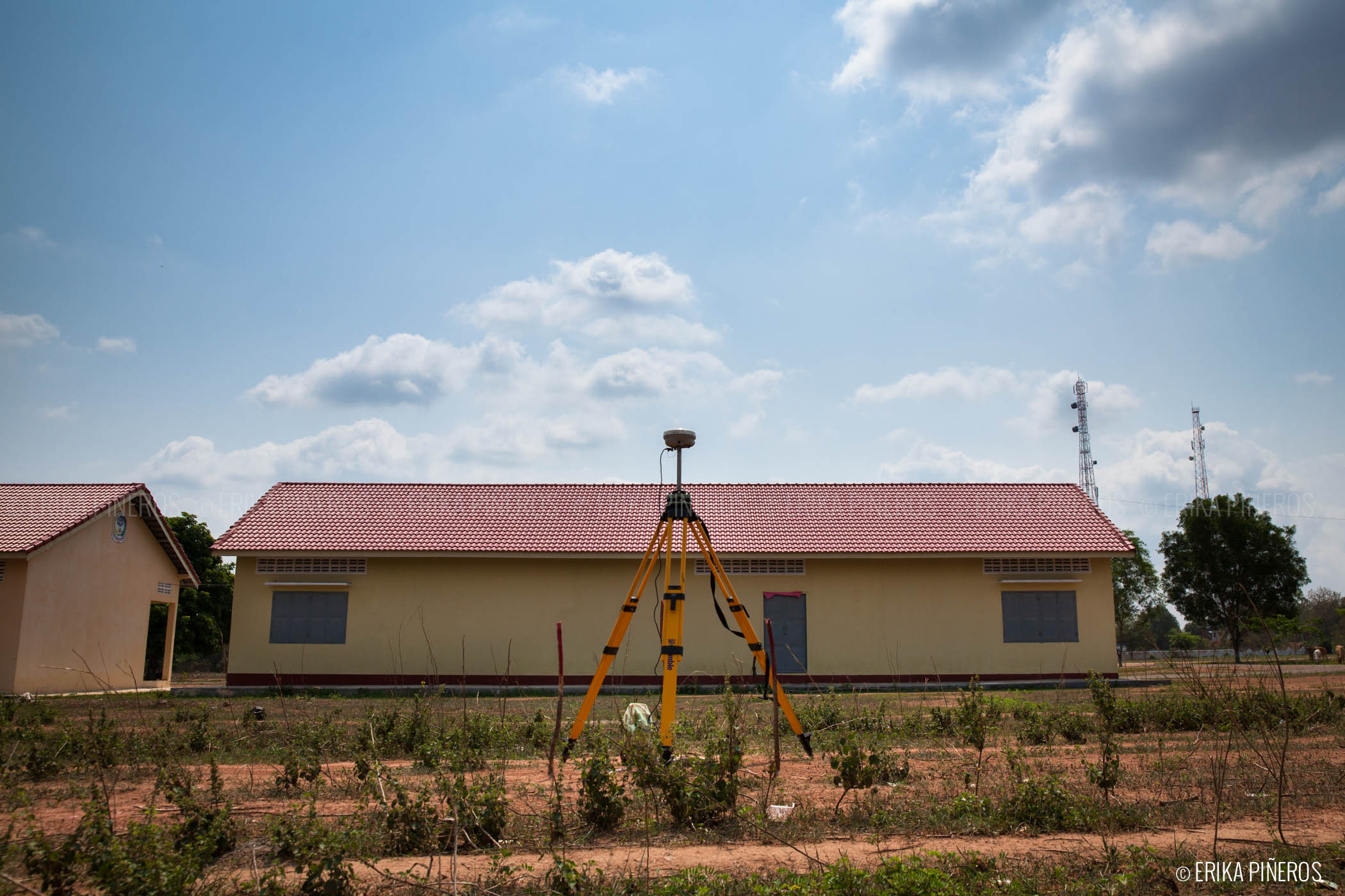 DGPS base station within the Banteay Chhmar acquisition block. Photo: Erika Pineros