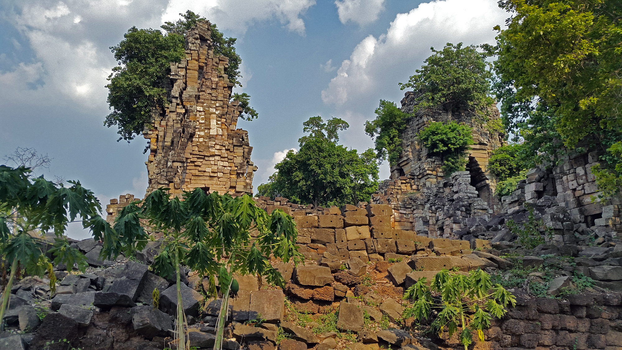 Banteay Torp, over which our first lidar instrument failed.