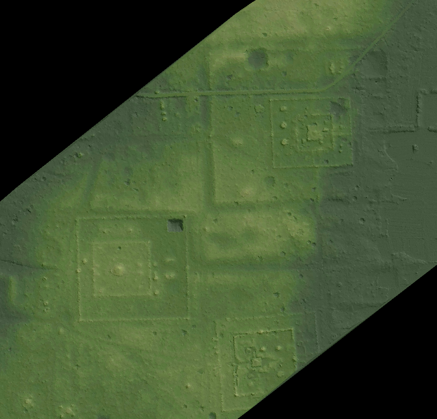 Archaeologically-significant topography around the central brick towers of Sambor Prei Kuk. Courtesy McElhanney